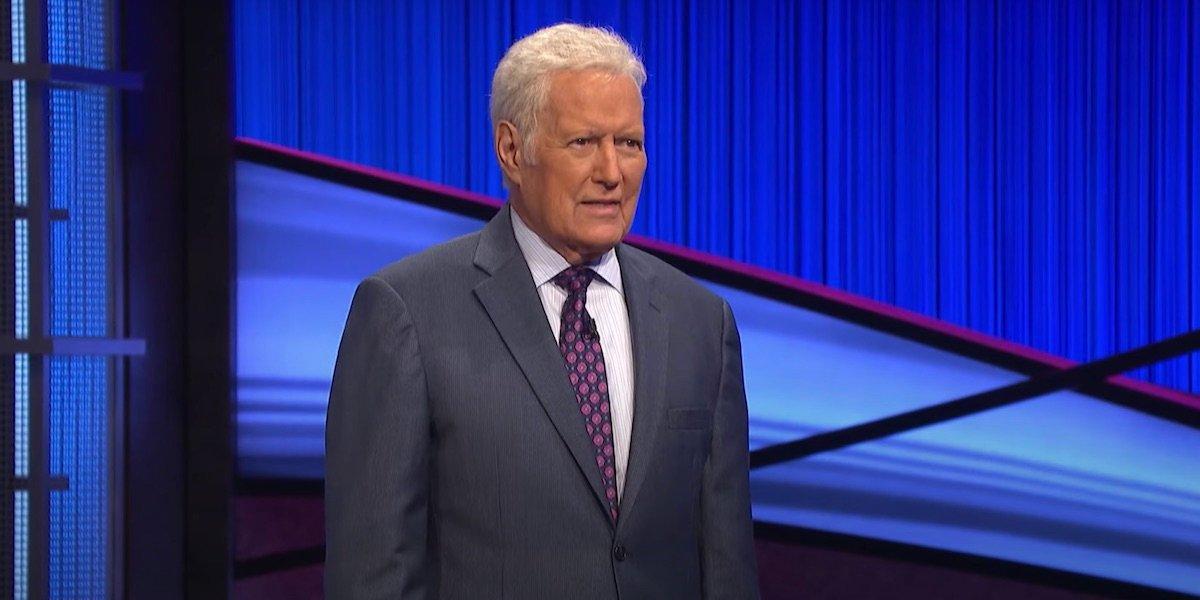 Alex Trebek hosting Jeopardy!