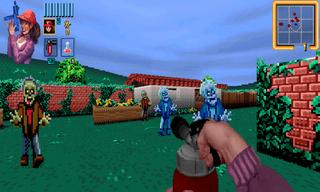 Zombies ate my neighbor mod for Doom 2.