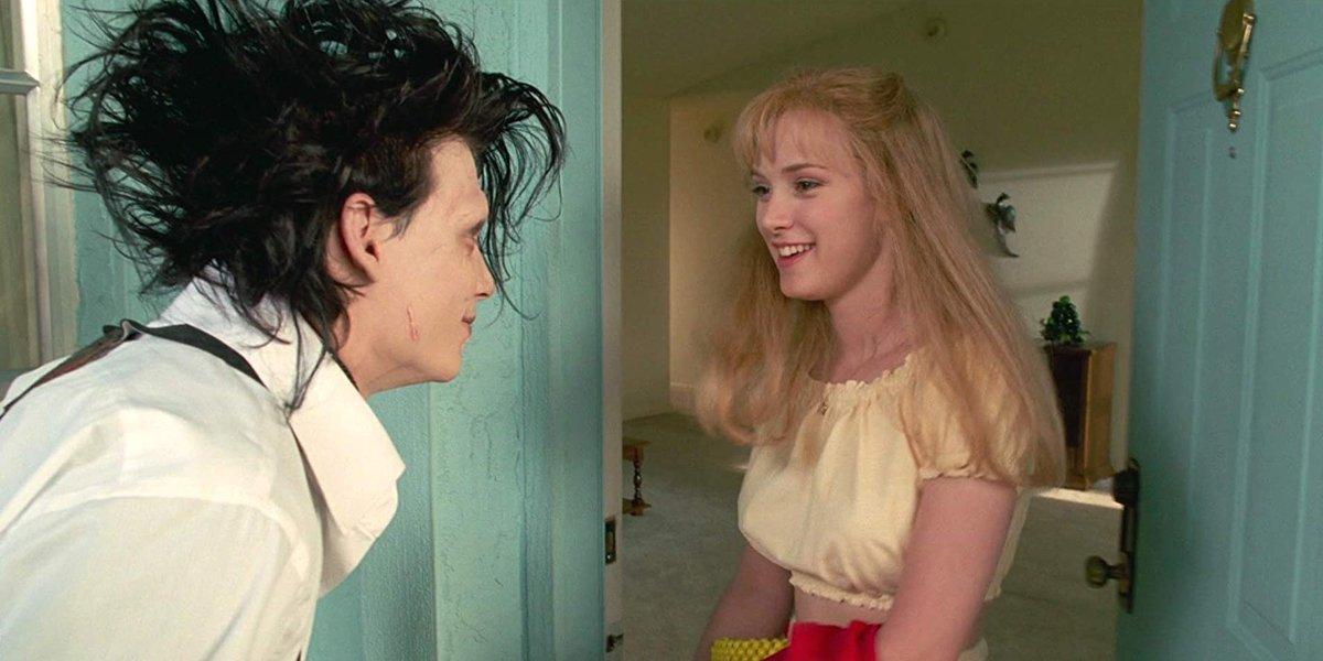 Johnny Depp and Winona Ryder in Edward Scissorhands