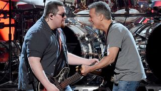 [L-R] Wolfgang Van Halen and Eddie Van Halen