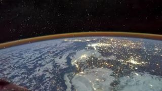 On July 30, 2021, Shenzhou 12 astronaut Tang Hongbo photographed the spectacular scenery of thousands of lights in North Africa.