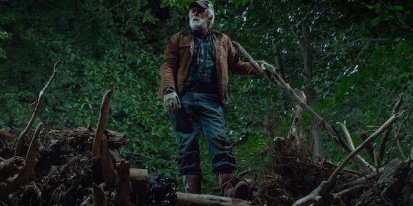 Pet Sematary Jud standing on the deadfall