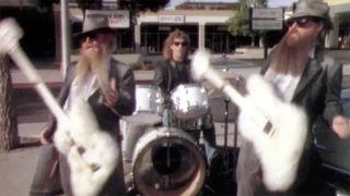 Screen grab of ZZ Top's Legs music video