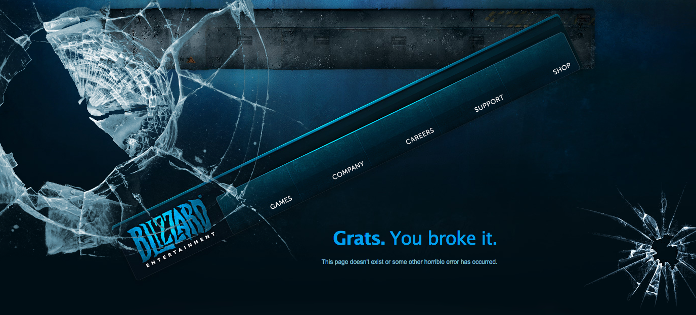 blizzard entertainment 404 page