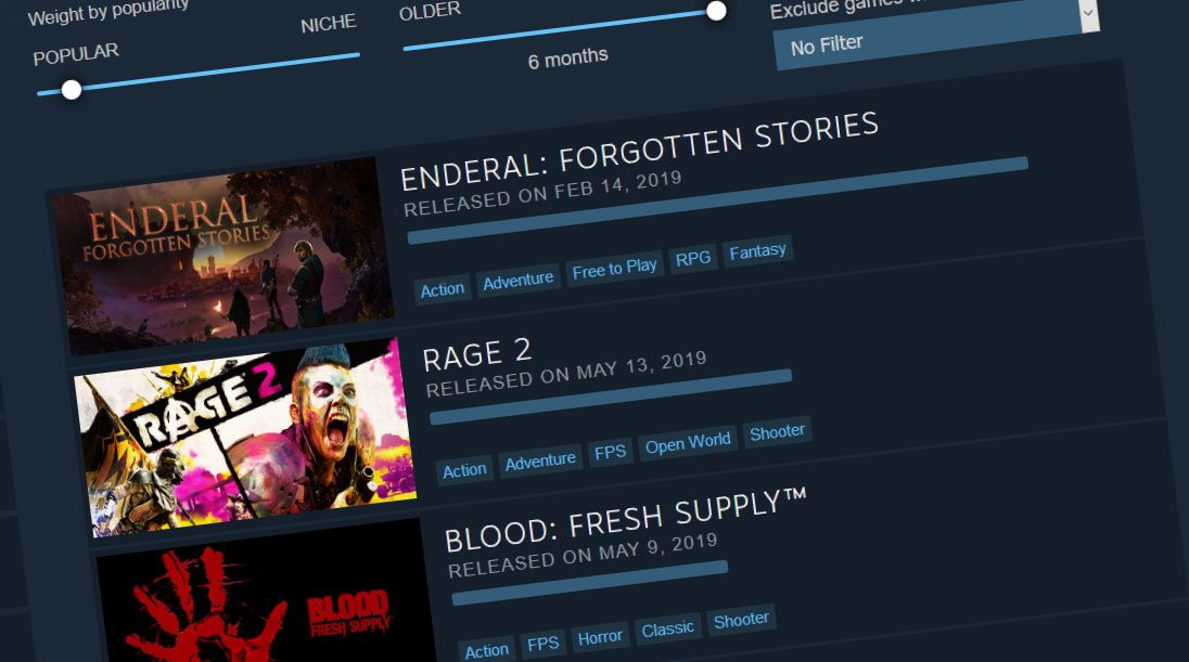 Steam's new 'Interactive Recommender' uses machine learning, not tags or reviews, to tell you what to play