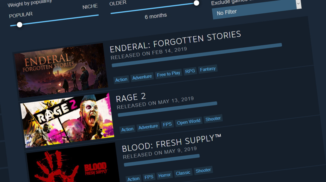 Valve updates Steam's new Interactive Recommender, teases a