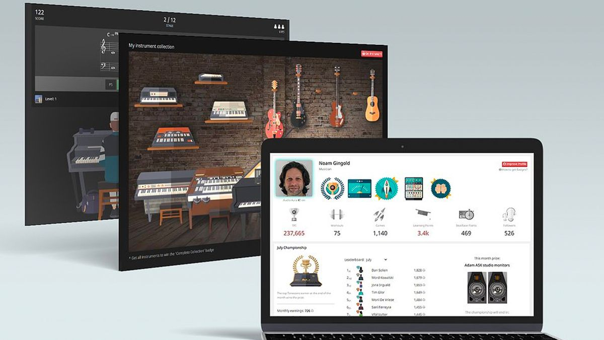 ToneGym is an online ear-training platform that could help you to master music theory and write better songs
