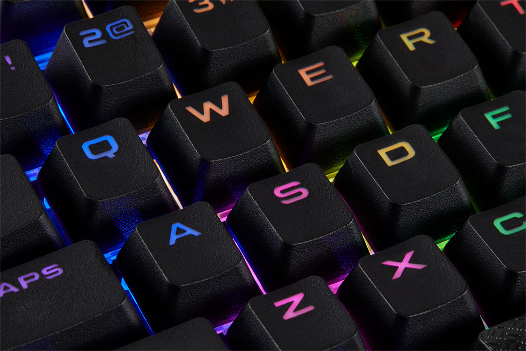 Corsair will sell you a set of shine resistant keyboard keycaps for