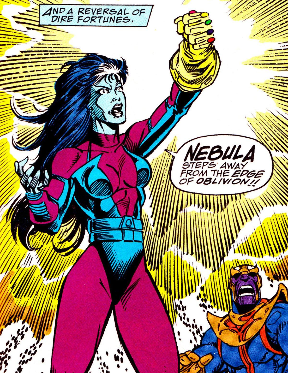 Nebula wears Infinity Gauntlet in Marvel Comics