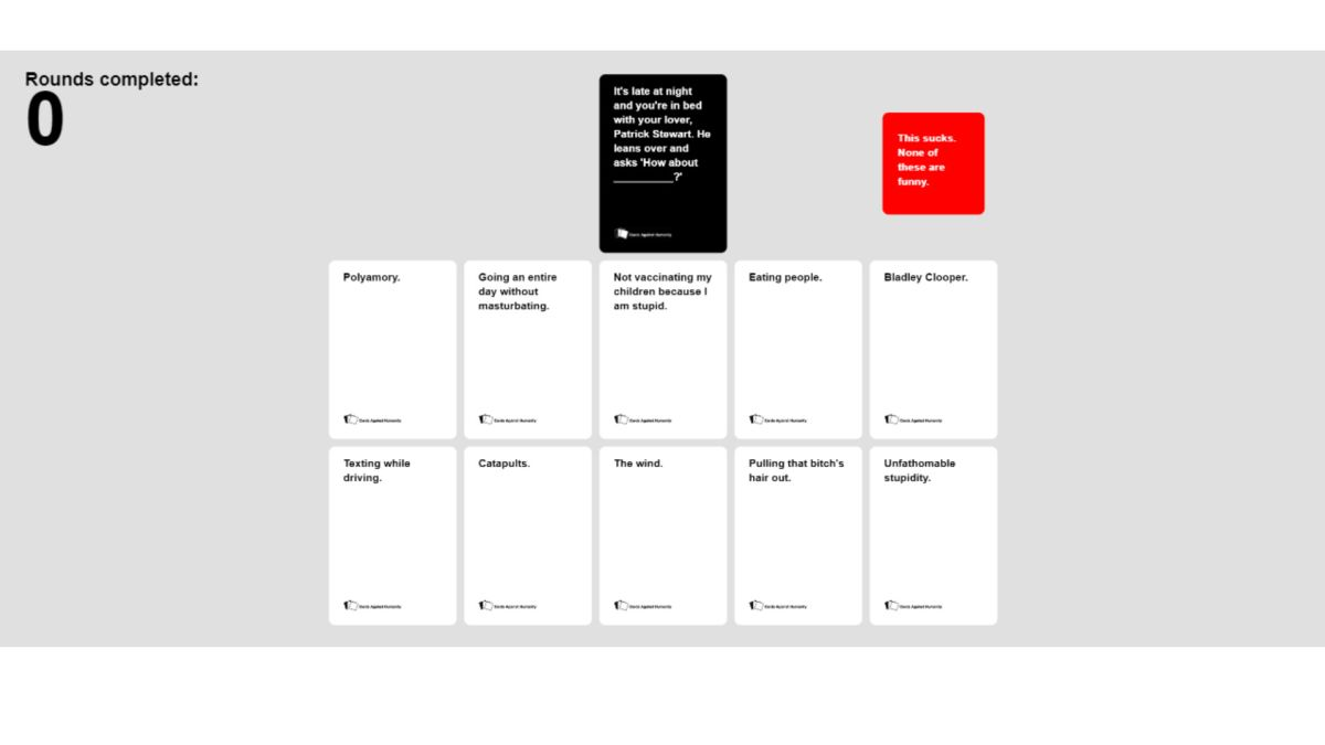 How To Play Cards Against Humanity Online With Friends Family Or