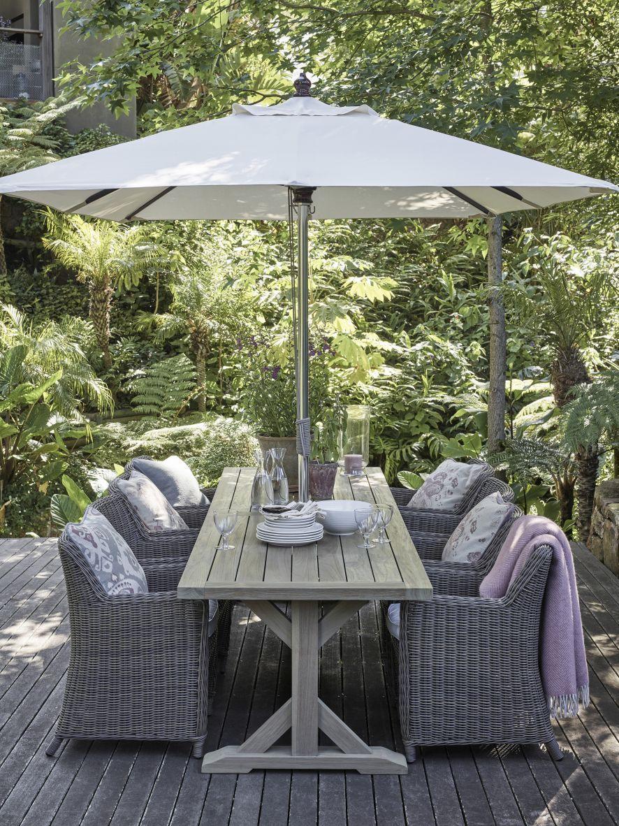 Anself Garden Umbrella Stand Plant Pot Smoky Outdoor Green