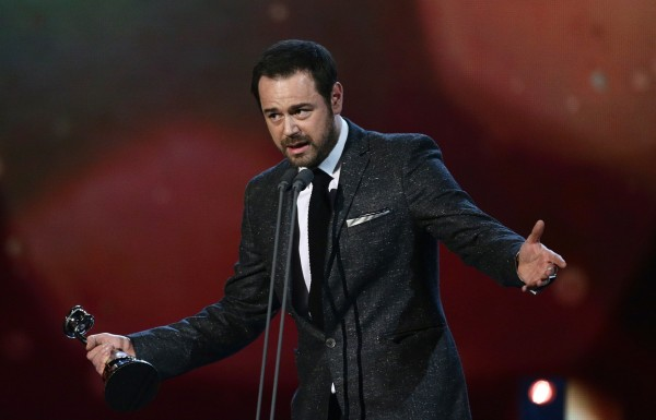 Danny Dyer accepts the Serial Drama Award during the 2015 National Television Awards
