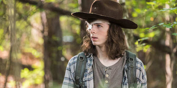 Carl on this season of The Walking Dead