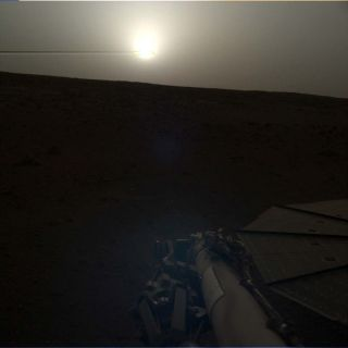 InSight watched the sun set on its 101st Martian day, or sol — March 10, 2019, here on Earth.