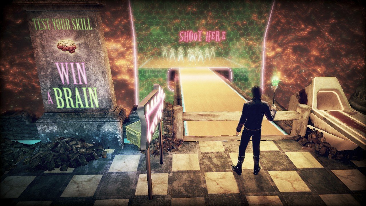 Shadows Of The Damned Mini-Game And Demon Blasting Screenshots #17884