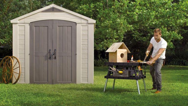 best garden shed: Keter Factor Plastic Shed
