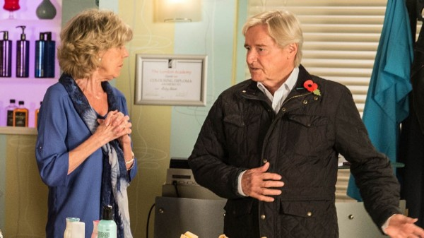 William Roache and Sue Nicholls in Coronation Street