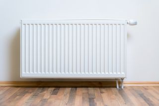 radiator attached to wall