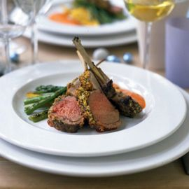 Rack of lamb with garlic and herb crust-lamb recipes-new recipes-recipe ideas-woman and home