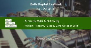 AI vs human creativity flyer