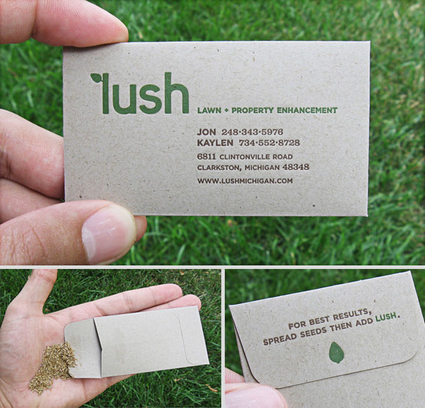 Business cards: Lush