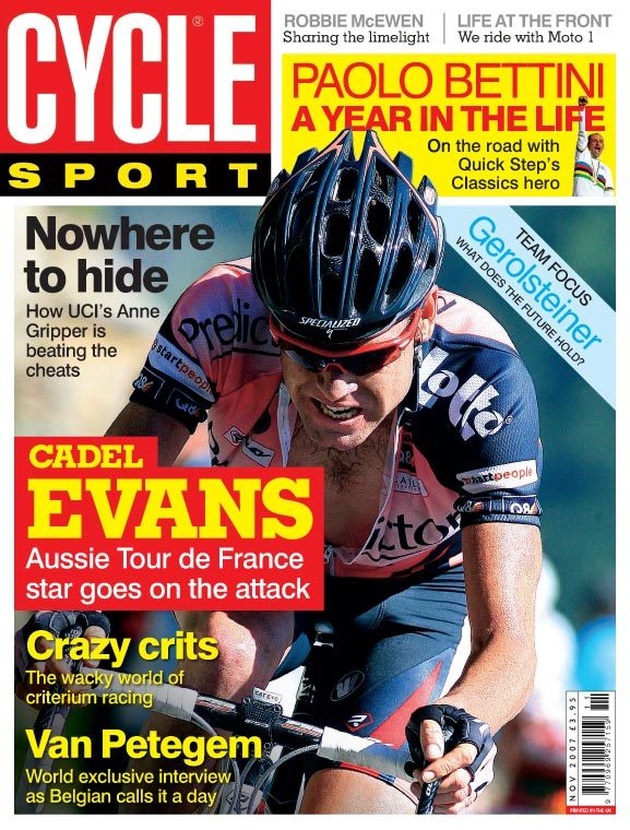 Cycle Sport November 2007 cover
