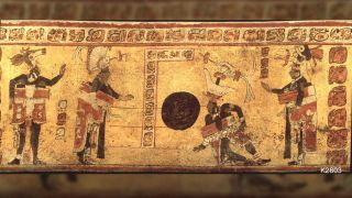 Maya ballgame illustration