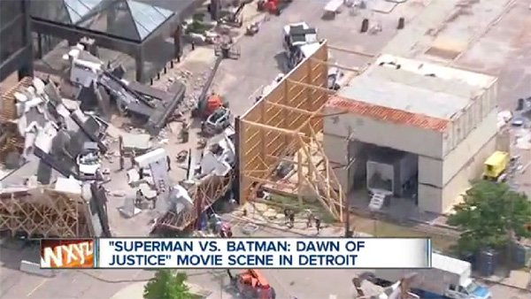 Batman v Superman Set Footage