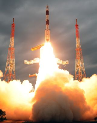 Indian rocket launches new communications satellite
