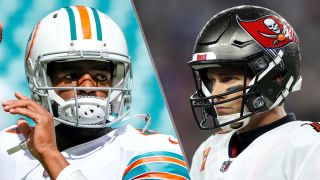 Jacoby Brissett and Tom Brady will face off in the Dolphins vs Buccaneers live stream
