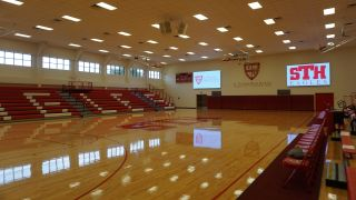 St. Thomas High School in Houston, TX recently updated its gymnasium's sound with a Dante-enabled system and products from Symetrix, Renkus-Heinz, and AMX.