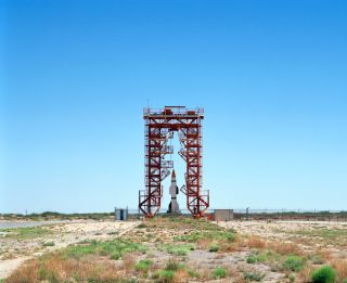 Launchpad and Gantry with Hermes A-1 Rocket
