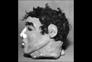 Alcatraz inmate dummy head