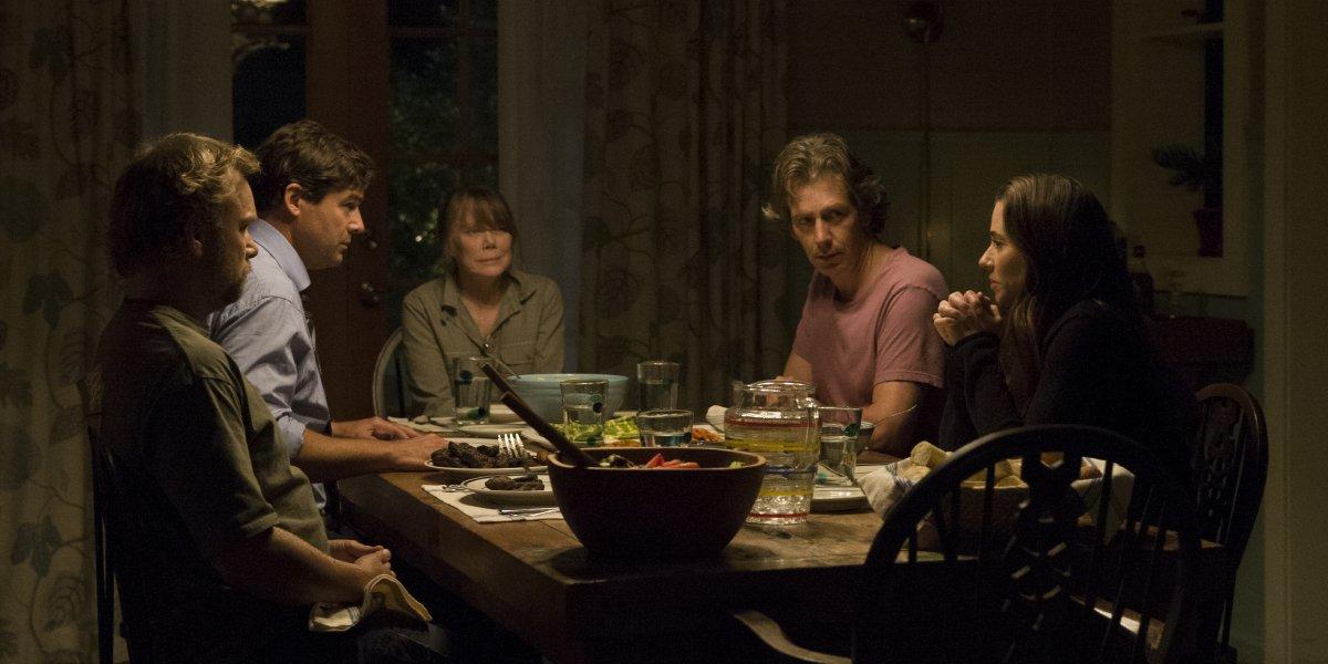 Norbert Leo Butz, Kyle Chandler, Sissy Spacek, Ben Mendehlson, and Linda Cardellini in Bloodline