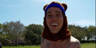 Steve-O performing a dangerous stunt involving bees in Jackass 3