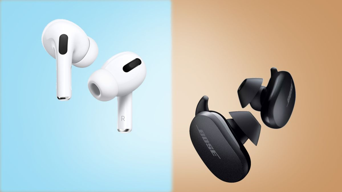 Apple AirPods Pro vs Bose QuietComfort Earbuds: which noise-cancelling earbuds are best?