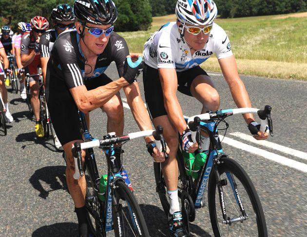 Bradley Wiggins and Geraint Thomas, Tour de France 2010 stage 5