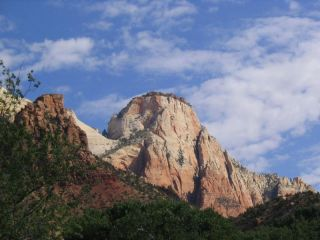 the sentinel in zion canyon