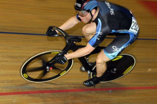 Sir Chris Hoy sprinting Manchester world cup day two.jpg