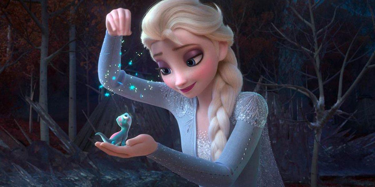 Elsa and new charactershowing love in Frozen II