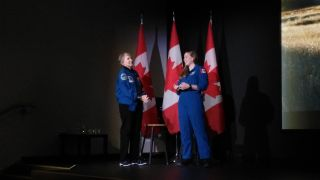 Roberta Bondar and Jenni Sidey-Gibbons
