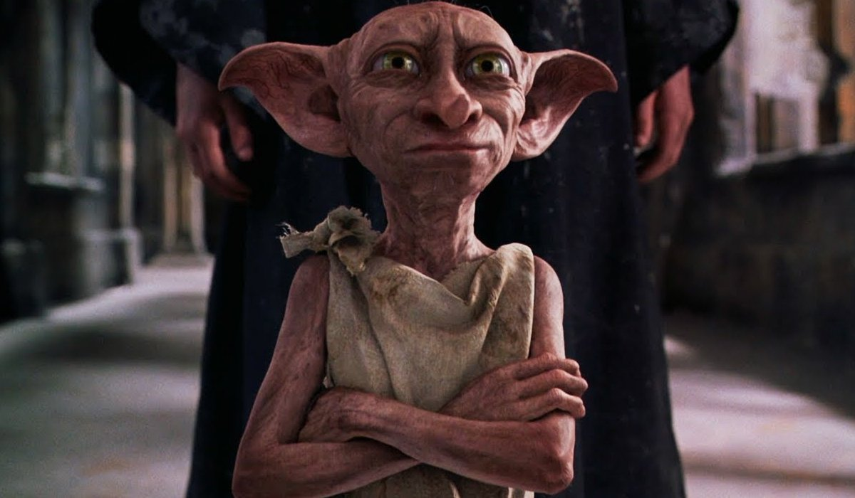 Harry Potter and the Chamber of Secrets Dobby stands defiantly