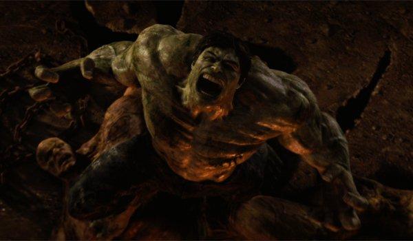 The Hulk screams in the street in The Incredible Hulk