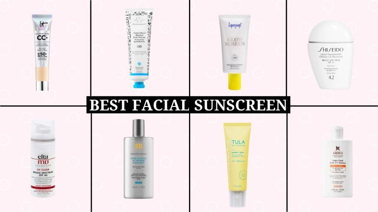 best facial sunscreens collage of main sunblock products