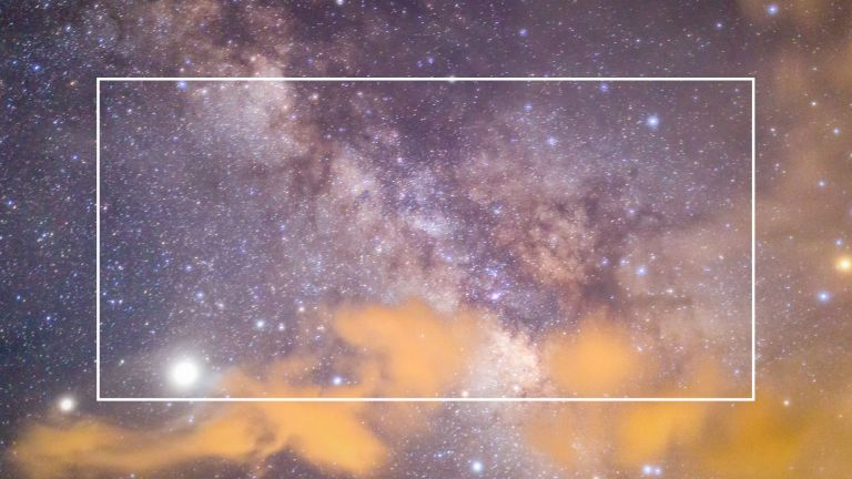 Milky way galaxy with stars and space dust in the universe, September 2021 horoscope