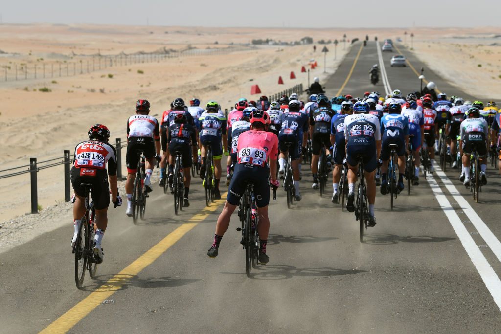 The wind blew hard on stage 1 of the UAE Tour