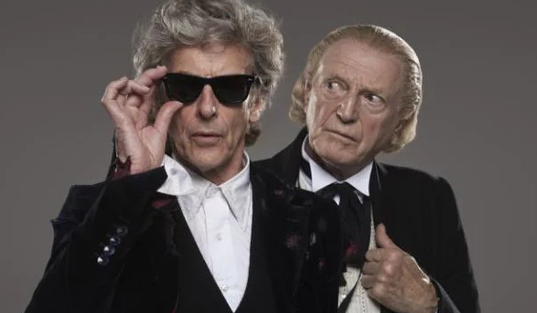Doctor Who Twelve and One together