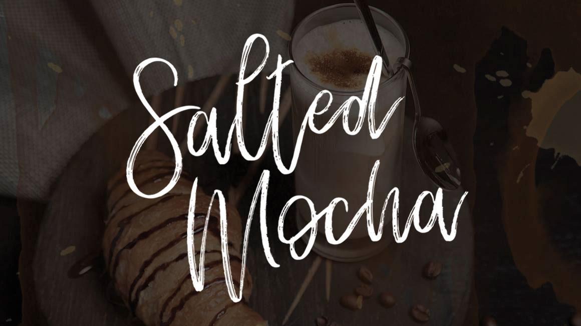 Free brush fonts: Salted Mocha