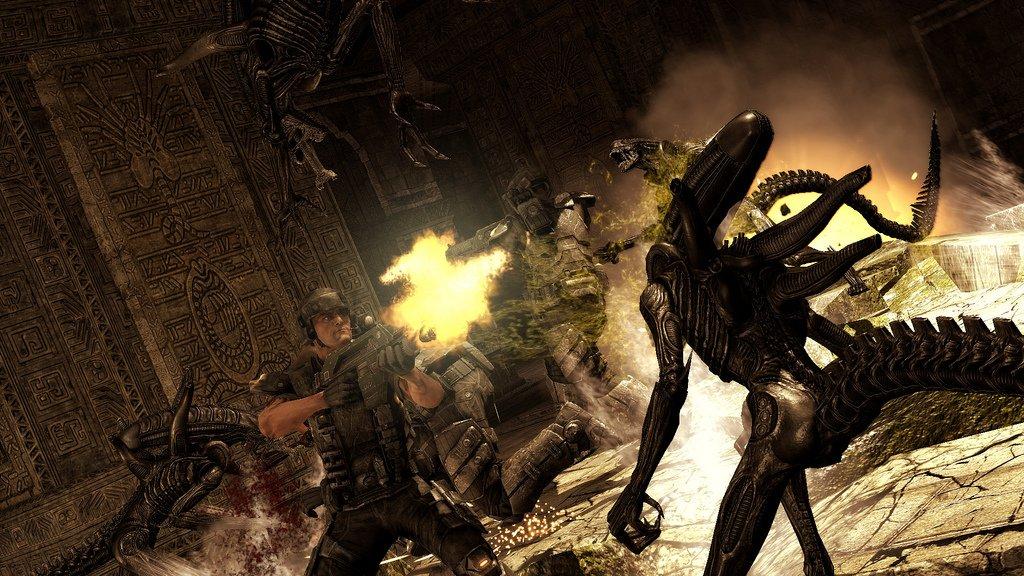 Aliens Vs. Predator Screenshots: Rumble In The Jungle #11166