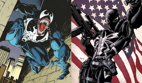 Eddie Brock and Flash Thompson Venoms